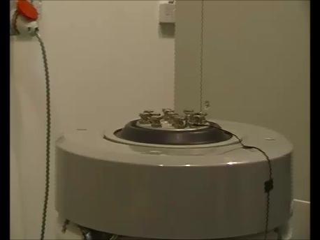 High G Shock Testing being performed on a IMV Vibration Test System